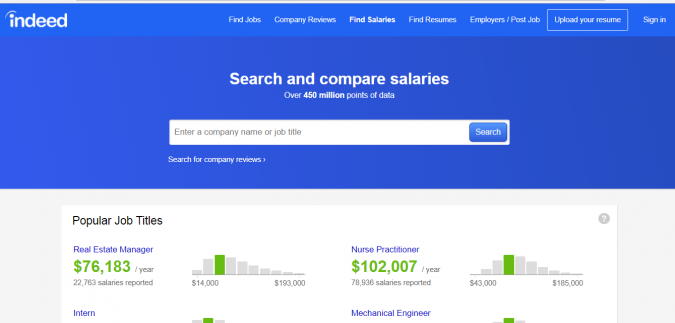 indeed.com review your salary