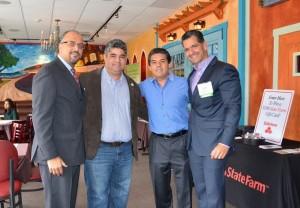Carlos Capellan, Luis O De la Hoz, Juan Zaldivar and Carlos Medina at Lola Latin Bistro