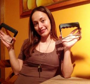 Hipatia Lopez with Empanada Fork