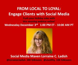 Engage with social media Lorraine C Ladish