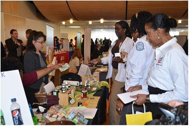 Exhibitors at the 2014 First Health and Wellness Fair. minority-owned businesses