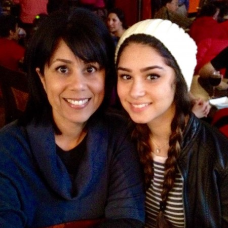 Aixa Lopez with her daughter Andrea