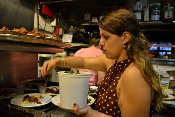 Alyssis Vazquez hands on in the kitchen