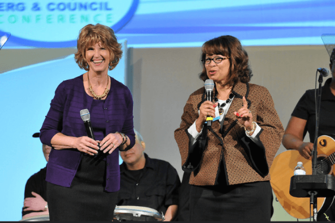 Linda Stokes, President and CEO of PRISM and Debbie Smith Rayford, Executive Director of the Association of ERGs & Councils