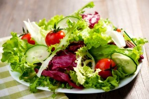 green salad in a plate