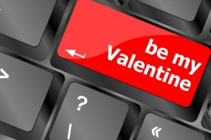 Computer keyboard key - Be my Valentine