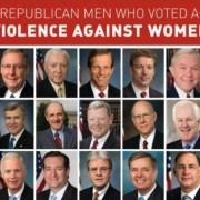 Senate members voting against violence against women act
