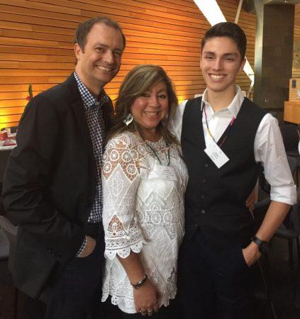 Chef Almalia with husband and son