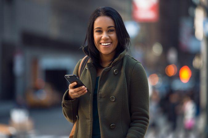Afro Latina on mobile phone marketing to Latinos