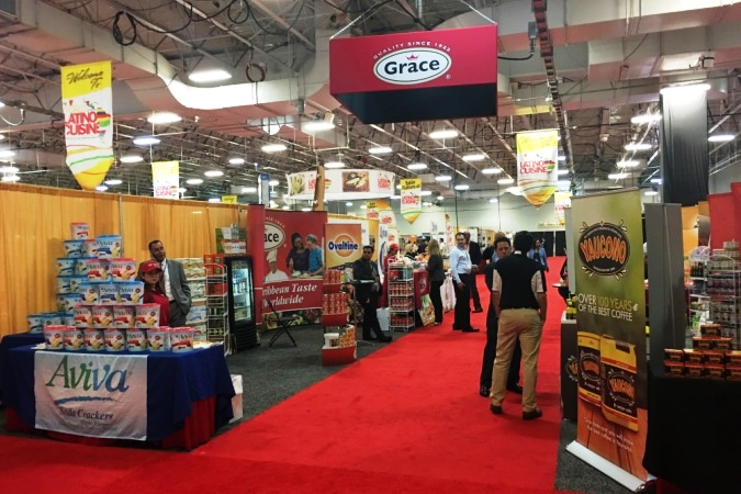 Exhibitors' floor at the World of Latino Cuisine Trade Show  in Meadowlands Expo Center NJ