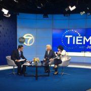 Joe Torres, Tiempo, interviewing Susama G Baumann, LatinasinBusiness.us and Pitch Competittion participant Liz Santiago, CeleBritAy
