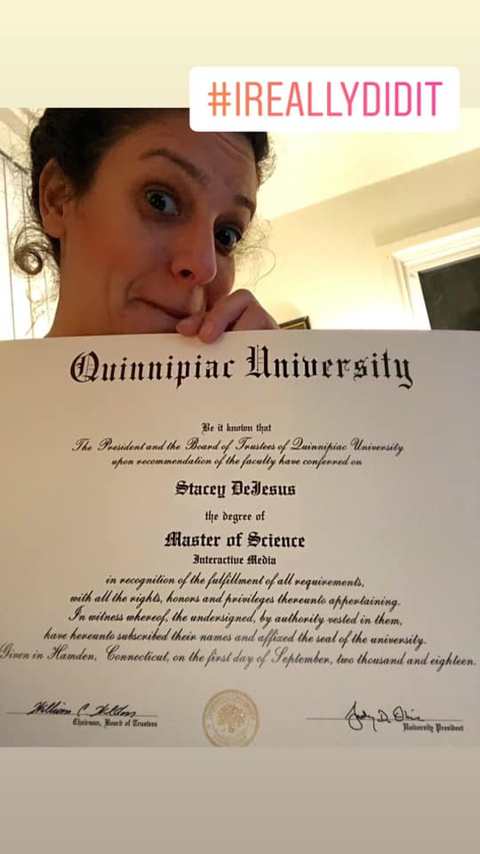 Stacey De Jesus hard work paid off with her Interactive Media degree
