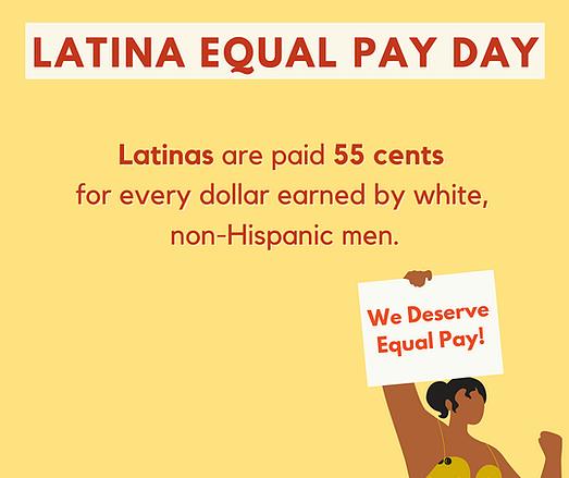 Latinas Equal Pay Day, gender wage gap