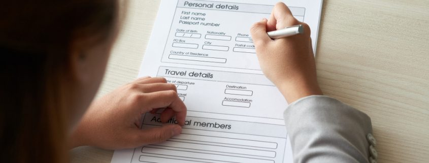 filling out form, application form,