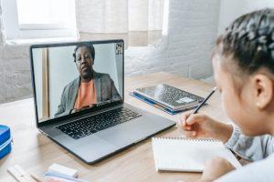 teachers, student, online learning